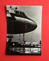 DDR Reklame Foto AK LUFTHANSA 1957 Flughafen Berlin Schönefeld Flugzeug  ( 47894