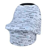 Baby Car Seat Cover Canopy & Nursing Cover Great Christmas and Baby Gift!