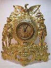 ARMY NAVY AMERICAN EAGLE Antique early 1900s Figural Cast Iron Brass Wash Clock