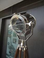 Nautical Hollywood Marine Industrial Spotlight Floor Lamp Vintage Tripod Stand