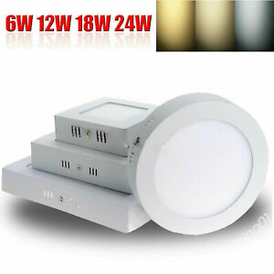 ⭐LED Panel Ceiling Light Down Round Square Surface Mount Hallway Light Slim QW