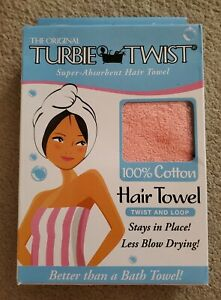 Turbie Twist Original 100% COTTON Hair Towel PINK