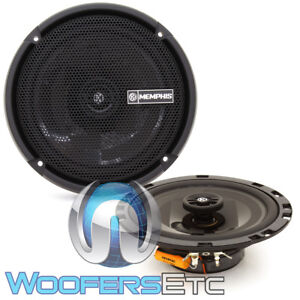 """MEMPHIS PRXS60 6.75"""" 2WAY TWEETERS SHALLOW MOUNT THIN COAXIAL 2 OHM SPEAKERS NEW"""