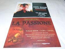 DAVE GAHAN & SOULSAVERS - CHRIS REA - Publicité de magazine / Advert !!!
