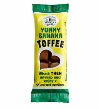WALKERS NONSUCH BANANA TOFFEE BARS 50G x 24 RETRO SWEETS TRADITIONAL GIFT IDEAS
