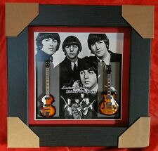 The Beatles Two Miniature Framed Guitars