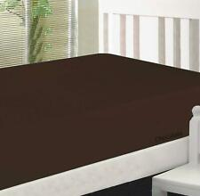 """FittedSheet 15""""Deep Pkt Elastic All Around TwinXL 100%Cotton 600 TC Brown Solid"""