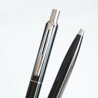 BAOER #001 Deluxe Black Chrome Trim Ballpoint Pen Blue/Black Ink G2 - UK SOLD