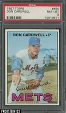 1967 Topps #555 Don Cardwell New York Mets PSA 8 NM-MT