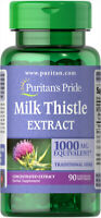 Puritan's Pride Milk Thistle 4:1 Extract / 1000 mg - 90 Softgels  (free ship)