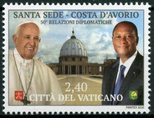Vatican City 2020 MNH Pope Francis Stamps Dipl Relations Ivory Coast 1v Set