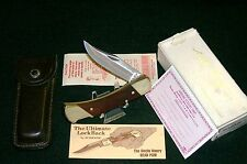 Schrade Lockback Knife Signature Sries Bear Paw Circa-1980's Packaging,Papers