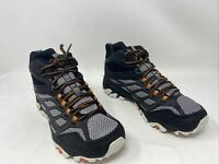 Merrell Mens Moab FST WP Hiking Shoe Black/Grey Size 8M US