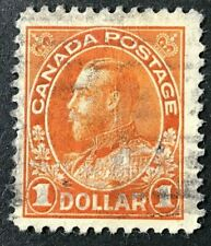 Canada Sc#122 1923 $1.00 King George V Admiral Issue Used Hinge rem. Fine (9-172