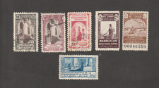MOROCCO SPANISH MARRUECOS TANGER 1940/50 REVENUE LOT OF 6 MNH USED STAMPS