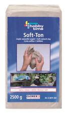 Soft-Ton 2,5 kg weiß Glorex 2500g lufthärtend / brennbar im Brennofen  6€/kg