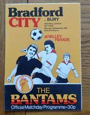 Bradford City v Bury 1981/1982 Football Programme