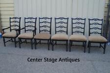 59463 Set of 6 Ebony Dining Room Chairs