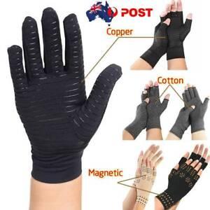 Medical Arthritis Gloves Copper/Cotton/Magnetic Compression Wrist Brace Sleeve