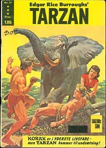 Tarzan Edgar Rice Burroughs #37 1966 Good/VG Swedish comic Korak  CBX1Z