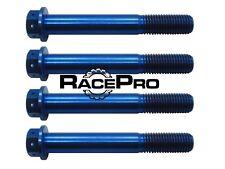 4x RacePro - Blue Race Drilled Titanium Caliper Bolt - M10 x 1.25mm x 65mm