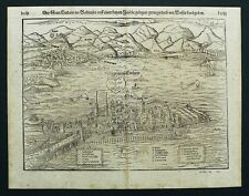 LINDAU AM BODENSEE - Gesamtansichtn - Münster - Holzschnitt 1550