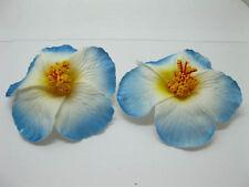 50 Blue White Foam Hawaiian Flower Hibiscus Flower Embellishment