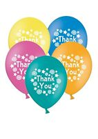 "Thank You - Stars & Swirls 12"" Printed Latex Balloons Asst 10 ct By Party Decor"