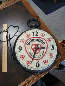 Vintage Ballantine Beer Premium Lager Oversized Pocket Watch Electric Wall Clock