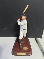 Babe Ruth Danbury Mint 8 inch ceramic Figure Ny Yankees with Bonus Gold Card