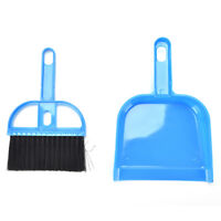 Small Whisk Type Broom Set Dust Pan Dustpan & Brush For Cleaning Tool Outdoo _D