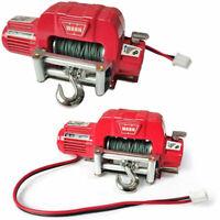 Rot Metall Seilwinde für Traxxas TRX4 Axial SCX10 D90 D110 TF2 TRX4 KM2 1/10 MV