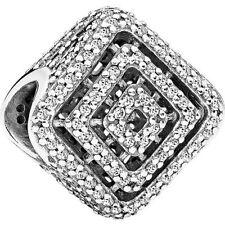 "Pandora Charm Bead 796211CZ "" Geometrische Linien ""  925 Sterlingsilber"