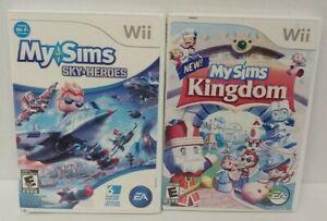 Nintendo Wii Wii U Games LOT  My Sims Kingdom + Sky Heroes MYSIMS  - Working