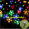 Solar Lamps 7M 50LEDs Flower Blossom Decorative Lights Waterproof Garden Outdoor