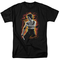 Bruce Lee Dragon Fire Licensed Tee Shirt Adult S-3XL