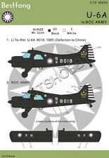 Bestfong Decal 1/48 U-6A / de Havilland Canada DHC-2 Beaver R.O.C. (Taiwan) Army