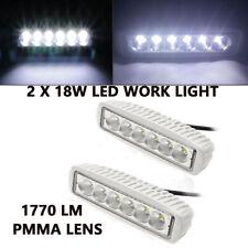 2PCS Universal 18W Spreader White 6000K LED lights Marine Dock Flood Work Light
