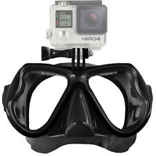 Masque de Plongée pour Caméra Action Sport GoPro Hero Silicone Sous-marine / BK