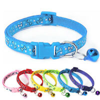 Adjustable Printed Pet Collar with Bell Pet Collar For Cat Dog Puppy