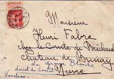 TYPE PAIX - 50c BANDELETTE PUB BERNARD MOTEURS AGRICOLES - STRASBOURG 7-8-1934