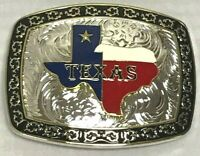 WESTERN RODEO COWBOY TEXAS MAP HEAVY FASHION STYLE  BELT BUCKLE