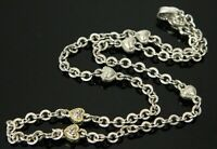 Judith Ripka Diamond Heart Link 18K Yellow Gold & Sterling Chain Necklace