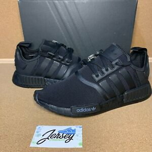Adidas NMD R1 Triple Black Size 9-12 All Black Boost Casual Shoes FV9015