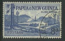 PAPUA NEW GUINEA 1960 8d PLYMILL 1v Fine Used/CTO