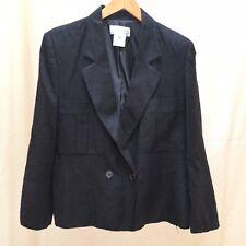 Vintage CHRISTIAN DIOR SEPARATES Black Rayon/Silk Blazer jacket Size 14