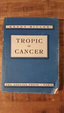 TROPIC OF CANCER by Henry Miller - Obelisk Press - 5th Printing, January 1939