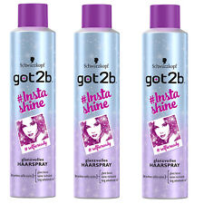 ( 21,24€/ L) 3x 300ml Schwarzkopf Got2b # instashine glamorosa Laca para el pelo