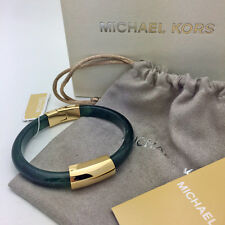 NEW Luxe Green Jade Acetate And Gold Tone Hinged Bangle Bracelet Mkj5897 710