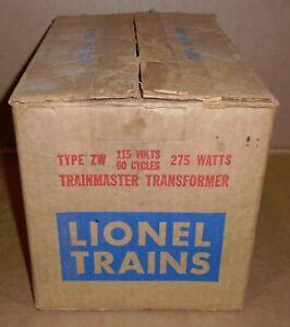 "* Lionel Trains  ""EMPTY BOX w/ Instructions for Lionel ZW 275 Watt Transformer"""